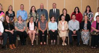 CCRSB 25-Year Service Award winners at a ceremony in Truro on May 23, 2017.